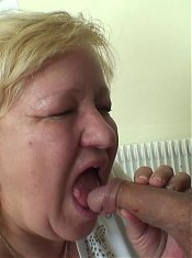 Her desire for cock is overwhelming and she gets the young man to give her a whole bunch