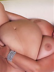 Sherry sucking a dick and spreading her BBW thighs to take it balls deep inside her cunt
