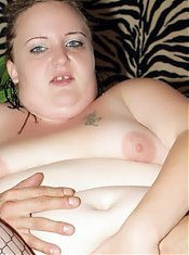 Anna Marie dons her pair of fishnet stockings and gets a cock inside her cushioned muff